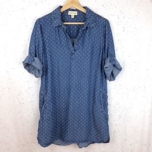 Cloth & Stone Diamond Dot Dress / Tunic L